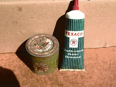 Texaco Cup Grease Can &  Outboard Gear Grease