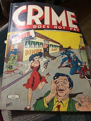 Crime Does Not Pay #36 Nov 1944 Lev Gleason Comic Book