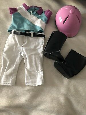 American Girl Sport Riding Outfit Boots helmet