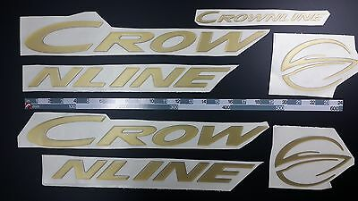 "CROWNLINE boat Emblem 33"" Gold + FREE FAST delivery DHL express - stickers decal"