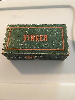 Antique Singer Sewing Machine Attachments With Green Box