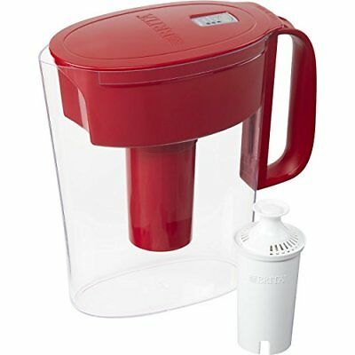 BRITA Metro Water Pitcher With Filter Small 5 Cup BPA Free Red Great Tasting