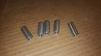 """(5 pcs) stainless steel spacer / bushing 1/2"""" OD x  5/16"""" ID x 1-1/8"""" long"""