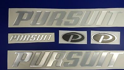 "PURSUIT boat Emblem 13"" chrome + FREE FAST delivery DHL express - stickers decal"