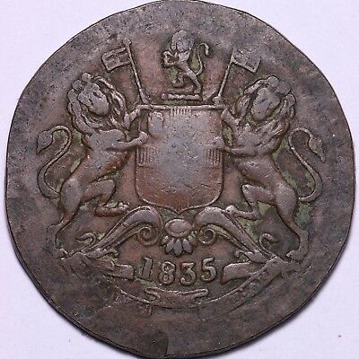 1835 British East India Trading Co Half Anna Coin #3  Free S/H To USA