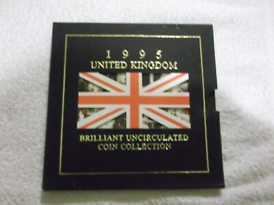 UNCIRCULATED COIN COLLECTION 1995 UNITED KINGDOM Brilliant With Inserts