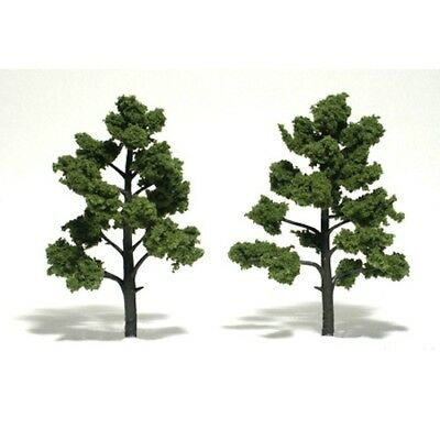 "Woodland Scenics TR1512 Deciduous Trees (2) Light Green 5""-6"" Ready-Made"