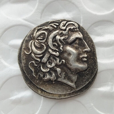 Alexander III Rare Ancient The Great Greek Coin 336-323 BC Silver Plated Drachm