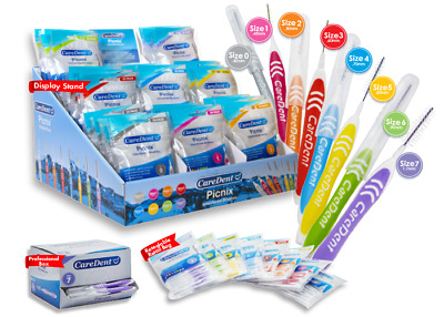 CareDent Picnix Interdental Brushes Straight 20 Pack (All Sizes Available)