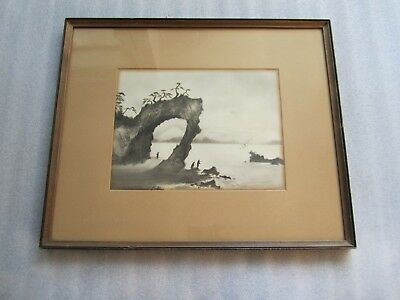 Beautiful Antique Chinese Watercolor and Ink Painting Signed Original