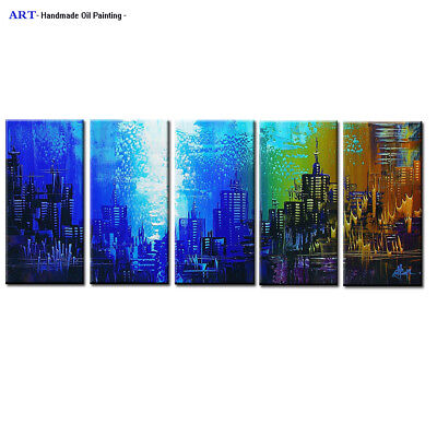Large Modern Abstract Oil Painting on Canvas Contemporary Wall Art Framed Abs133