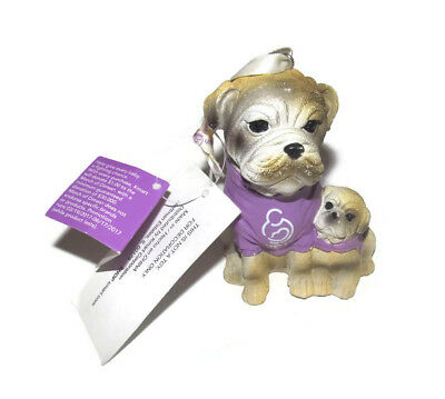 March Of Dimes Resin English Bull Dog Ornament 2017 NWT