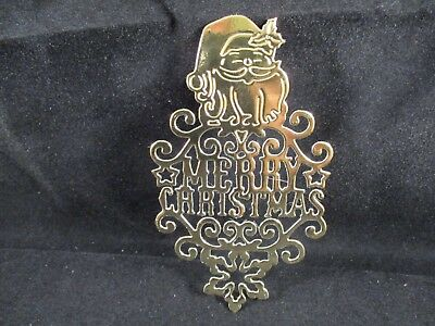 6 Merry Christmas With Santa And Snowflake Die Cuts............gold