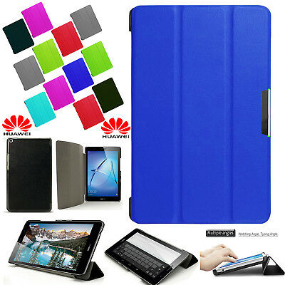 """MAGNETIC! Flip Stand Leather Case Cover For Huawei MediaPad T3  9.6"""", 8"""", 7 Inch"""
