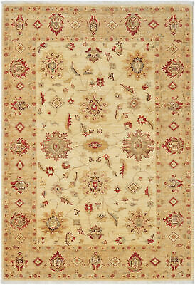 Traditional Handmade Farhan Area Rug Beige/Gold Color Persian Rugs Size (4 x 6)