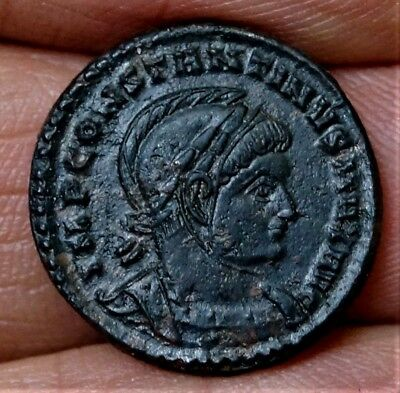 CONSTANTINE I, 2 VICTORIES- Wings Out, 319 A.D, 3.3g, 17.5mm  Ancient Roman Coin