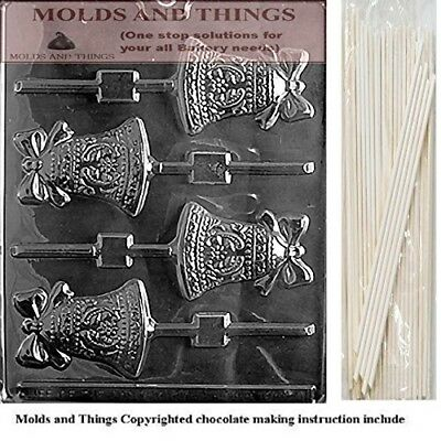BELL LOLLY Wedding Chocolate candy mould with © moulding Instructions and 25
