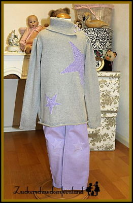 Crazy 8 (USA) ■ »Love to Shine« ■ Sternen-Outfit ■ Hose & Pullover ■ Gr. 104/110
