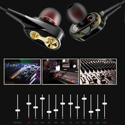 Earphone Dual Dynamic Driver Headphone Super Bass Stereo Headset With Mic Best