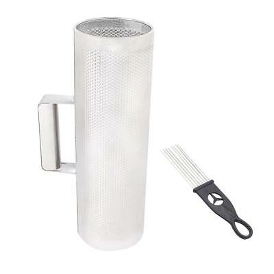 "Metal Guiro with Scraper 4""x12"" - Stainless Steel Latin Percussion Instrument de"