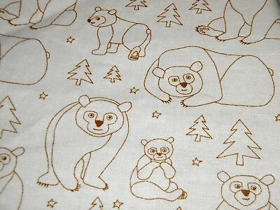 Fitted Cot Sheet- Brown Bear