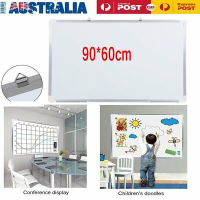 90x60cm Magnetic Whiteboard Aluminum Frame Inspiration Board Office School Home