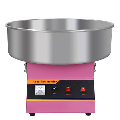 "20"" Electric Commercial Cotton Candy Machine / Floss Maker Pink Cart Stand"