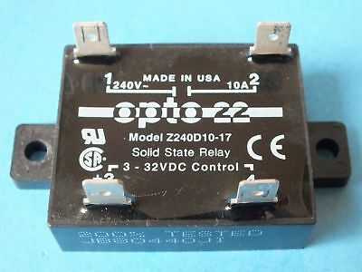 OPTO 22  Z240D10-17  3-32VDC Control,  Solid state Relay