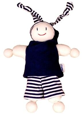 Keptin-Jr Rag Doll Boyo Navy Blue Cotton Baby Toddler Soft Toy Made in Europe