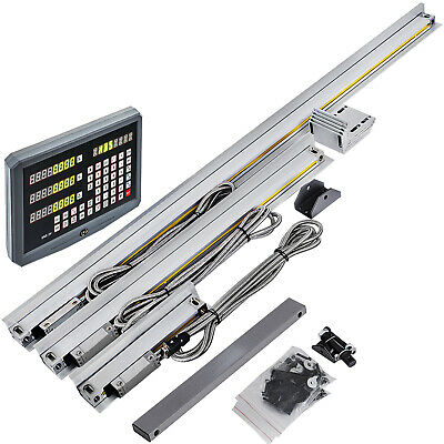 3 Axis Digital Readout Dro Kit For Mill Milling Machine With Linear Scale !