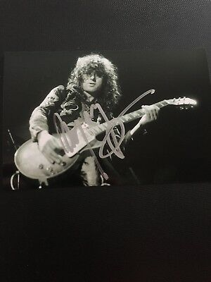 JIMMY PAGE Hand Signed AUTOGRAPH PHOTO - MUSICIAN