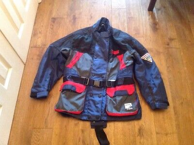 Men's Motorbike Jacket,size 38 Chest.Made By IXS,blue,tidy Condition.