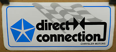 Large Direct Connection Chrysler Plymouth Dodge Sticker Decal Drag Cuda Gtx Dart