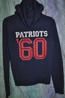PINK Victorias Secret NFL PATRIOTS Full Zip Hoodie Hooded Jacket SIZE M RARE