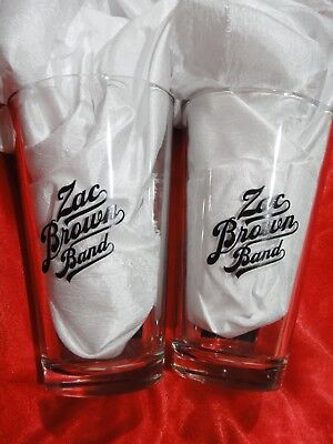 Set of 2 pint glasses Jack Daniels Zac Brown Band together on tour