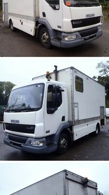 Showmans Lorry Business Oppertunity with climbing wall other side covered stall
