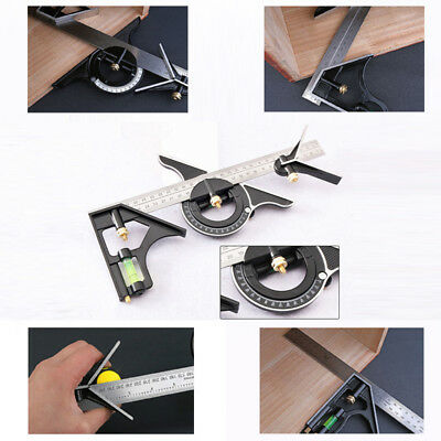 Combination Tri- Square Ruler Steel Machinist Measuring Angle Tool Rule 30cm