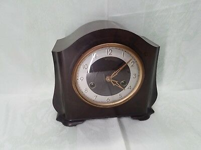 Vintage 1950-60s Smiths Enfield Bakelite Windup Chiming Clock, Needs Attention