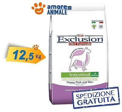Exclusion Diet Intestinal Puppy All Breed Maiale e Riso 12,5 Kg > Per Cane, cani