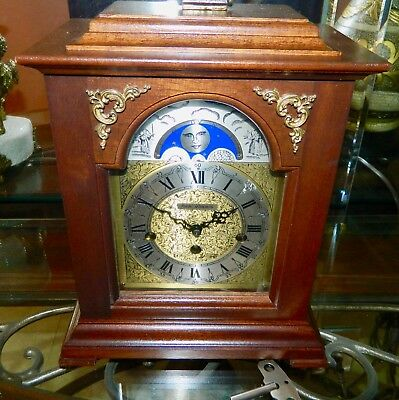 Highly Collectable Vintage Moonphase Westminster Mantel Clock