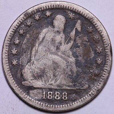 1888-S Seated Liberty Quarter               R7KCT