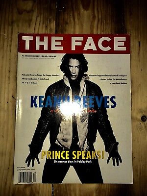 The Face magazine December 1991 Keanu Reeves, Prince, Afrika Bambaataa