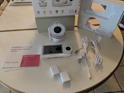 """Project Nursery - Video Baby Monitor with 5"""" Screen - White"""