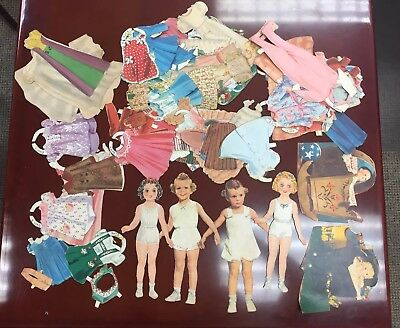 HUGE Vintage paper dolls lot