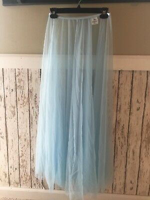 Body Wrappers Adult Long Mesh Dance Skirt,light blue. We have three available .