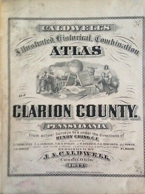 Caldwell's Illustrated Historical Combination Atlas - Clarion County, Pa. (1877)