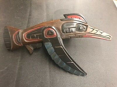 Northwest Coast First Nations carving Art totem Hummingbird 4 Colours