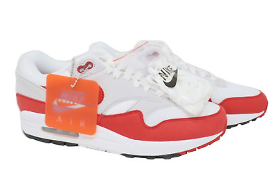 new product 4567b cdb2f Nike Air Max 1 OG Anniversary University Red Gray White 908375-103 Size 13  DS
