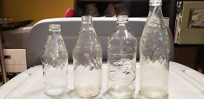 Vintage pepsi bottle lot of 4 Pepsi cola collectable