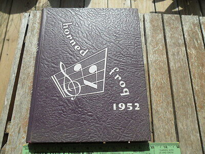 1952 TCU Texas Christian University Horned Frog College Yearbook